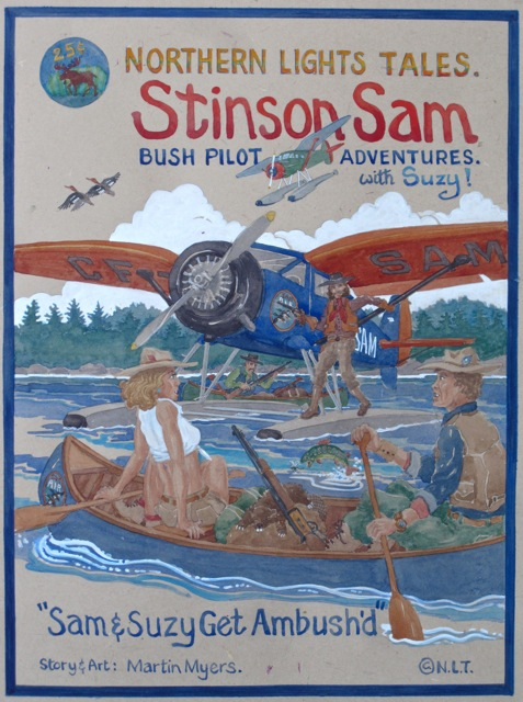 Stinson Reliant Canadian Bush Plane: Comic Book cover.