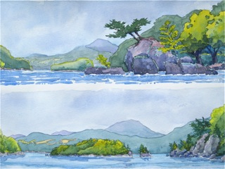 Two Scenes of Fitch Bay, Lake Memphremagog, Québec